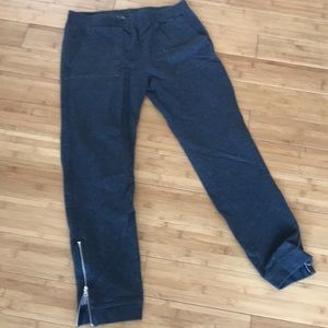 Gap dark grey sweatpants with ankle zippers